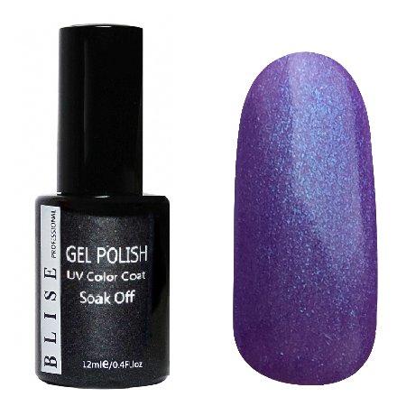 BLISE, Гель-лак - Лилово-фиолетовый с голубым микроблеском №132 (12 ml.)BLISE<br>Гель-лак лилово-фиолетовый с голубым микроблеском, плотный<br>