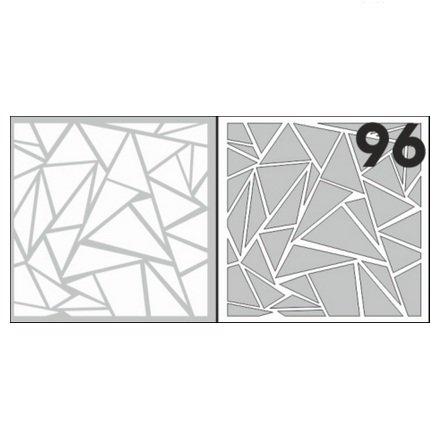 AIRnails, Трафарет №96Трафареты<br>Набор многоразовых клеевых трафаретов для аэрографии на ногтях, 6шт/1уп<br>