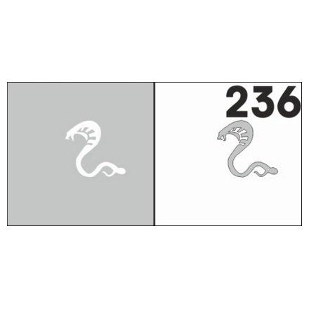 AIRnails, Трафарет №236Трафареты<br>Набор многоразовых клеевых трафаретов для аэрографии на ногтях, 6шт/1уп<br>