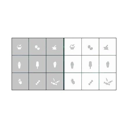 AIRnails, Трафарет Серия CL11Трафареты<br>Набор многоразовых клеевых трафаретов для аэрографии на ногтях, 9шт/1уп<br>