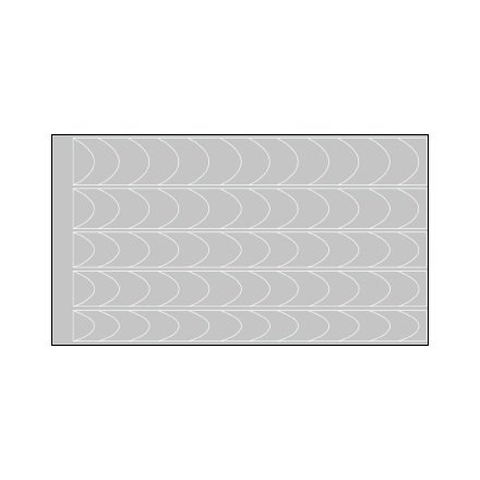 AIRnails, Трафарет Серия CF1Трафареты<br>Набор многоразовых клеевых трафаретов для аэрографии на ногтях, 5шт/1уп<br>