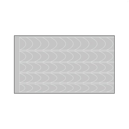 AIRnails, Трафарет Серия CF2Трафареты<br>Набор многоразовых клеевых трафаретов для аэрографии на ногтях, 5шт/1уп<br>