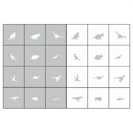 AIRnails, Трафарет Серия CL10Трафареты<br>Набор многоразовых клеевых трафаретов для аэрографии на ногтях, 12шт/1уп<br>