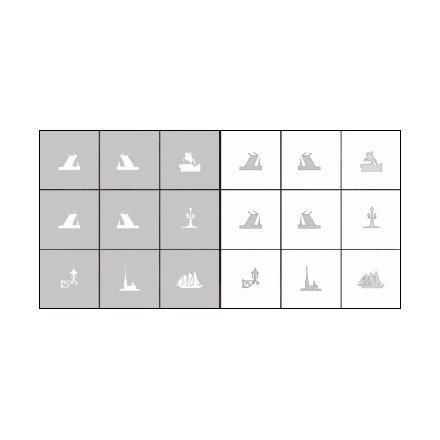 AIRnails, Трафарет Серия CL1Трафареты<br>Набор многоразовых клеевых трафаретов для аэрографии на ногтях, 9шт/1уп<br>