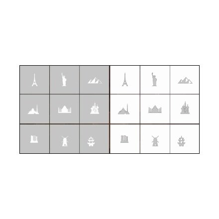 AIRnails, Трафарет Серия CL4Трафареты<br>Набор многоразовых клеевых трафаретов для аэрографии на ногтях, 9шт/1уп<br>