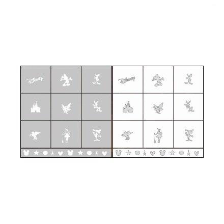 AIRnails, Трафарет Серия CL9Трафареты<br>Набор многоразовых клеевых трафаретов для аэрографии на ногтях, 10шт/1уп<br>