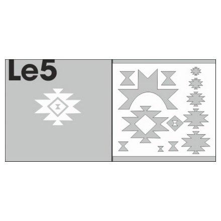 AIRnails, Трафарет Серия LE5Трафареты<br>Набор многоразовых клеевых трафаретов для аэрографии на ногтях, 6шт/1уп<br>