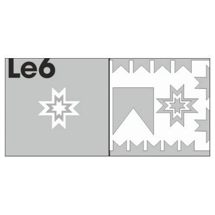 AIRnails, Трафарет Серия LE6Трафареты<br>Набор многоразовых клеевых трафаретов для аэрографии на ногтях, 6шт/1уп<br>