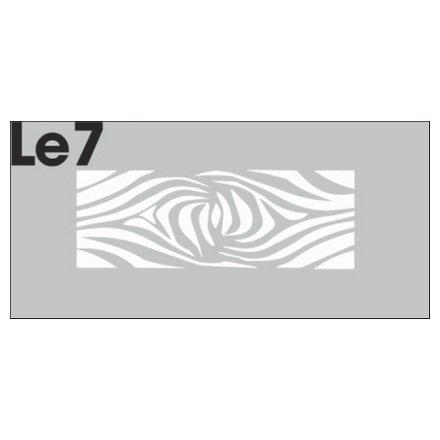 AIRnails, Трафарет Серия LE7Трафареты<br>Набор многоразовых клеевых трафаретов для аэрографии на ногтях, 3шт/1уп<br>
