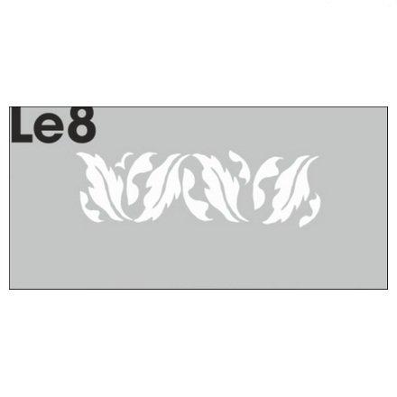 AIRnails, Трафарет Серия LE8Трафареты<br>Набор многоразовых клеевых трафаретов для аэрографии на ногтях, 3шт/1уп<br>