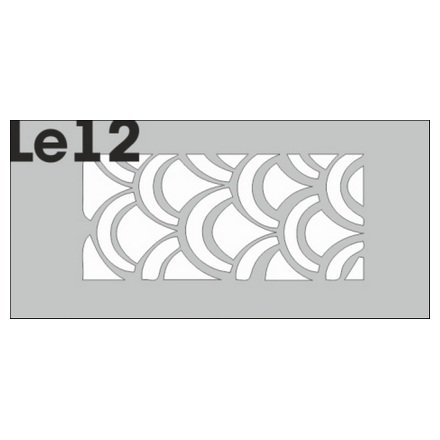 AIRnails, Трафарет Серия LE12Трафареты<br>Набор многоразовых клеевых трафаретов для аэрографии на ногтях, 3шт/1уп<br>