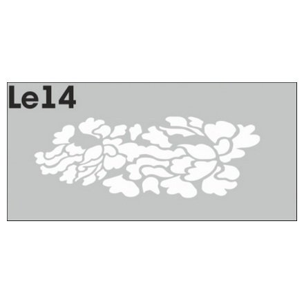 AIRnails, Трафарет Серия LE14Трафареты<br>Набор многоразовых клеевых трафаретов для аэрографии на ногтях, 3шт/1уп<br>