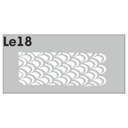 AIRnails, Трафарет Серия LE18Трафареты<br>Набор многоразовых клеевых трафаретов для аэрографии на ногтях, 3шт/1уп<br>