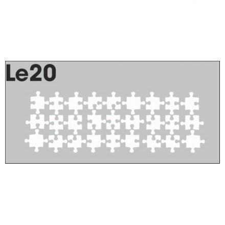 AIRnails, Трафарет Серия LE20Трафареты<br>Набор многоразовых клеевых трафаретов для аэрографии на ногтях, 3шт/1уп<br>
