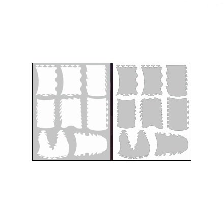 AIRnails, Трафарет Серия LE2-1Трафареты<br>Набор многоразовых клеевых трафаретов для аэрографии на ногтях, 9шт/1уп<br>
