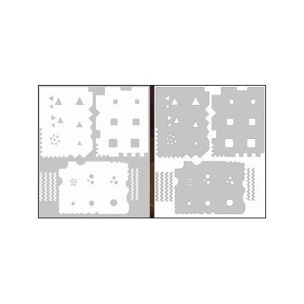 AIRnails, Трафарет Серия LE2-2Трафареты<br>Набор многоразовых клеевых трафаретов для аэрографии на ногтях, 3шт/1уп<br>