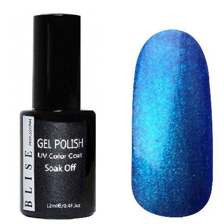 BLISE, Гель-лак - Светло-синий с голубым микроблеском №138 (12 ml.)BLISE<br>Гель-лак светло-синий с голубым микроблеском, плотный<br>