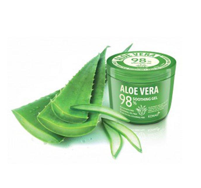 Konad, Гель для тела ALOE VERA 98% SOOTHING GEL 500 млЛосьоны и крема Konad<br>98% свежего и чистого алоэ! Смягчающий гель из парабенов и минеральных масел.<br>