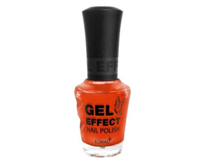 Konad, Лак с эффектом геля (Gel Effect Polish - Tangerine Orange) ОранжевыйЛаки с эффектом геля Konad<br>Оранжевый, плотный.<br>
