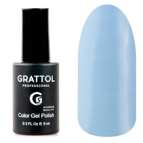 Grattol, Гель-лак Baby Blue №15 (9 мл.)Grattol<br>Гель лак, светло-голубой, глянцевый, плотный<br>