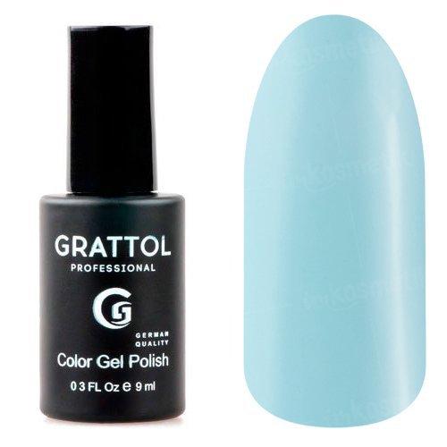 Grattol, Гель-лак Pastel Blue №16 (9 мл.)Grattol<br>Гель лак, пастельно-синий, глянцевый, плотный<br>