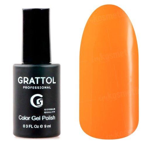 Grattol, Гель-лак Tangerin №28 (9 мл.)Grattol<br>Гель лак, оранжевый, глянцевый, плотный<br>