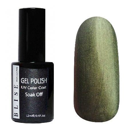 BLISE, Гель-лак - Болотно-зеленый с перламутром №175 (12 ml.)BLISE<br>Гель-лак болотно-зеленый с перламутром, плотный<br>