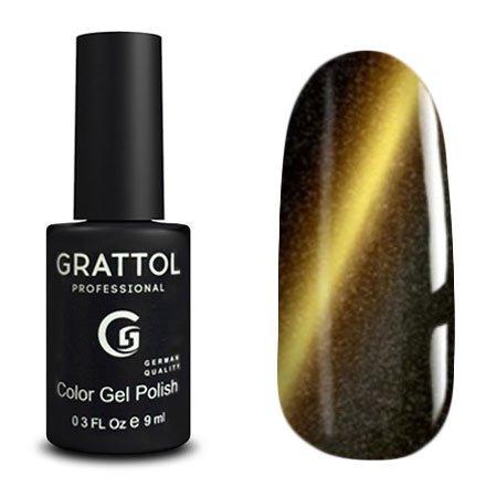 Grattol, Гель-лак Кошачий глаз - Magic Chrome №03 (9 мл.)Grattol<br>Магнитный гель лак, металлического оттенка, с эффектом кошачьего глаза, плотный<br>