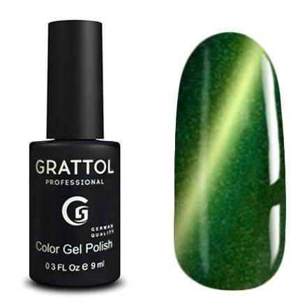 Grattol, Гель-лак Кошачий глаз - Magic Forest №04 (9 мл.)Grattol<br>Магнитный гель лак, зеленый, с эффектом кошачьего глаза, плотный<br>