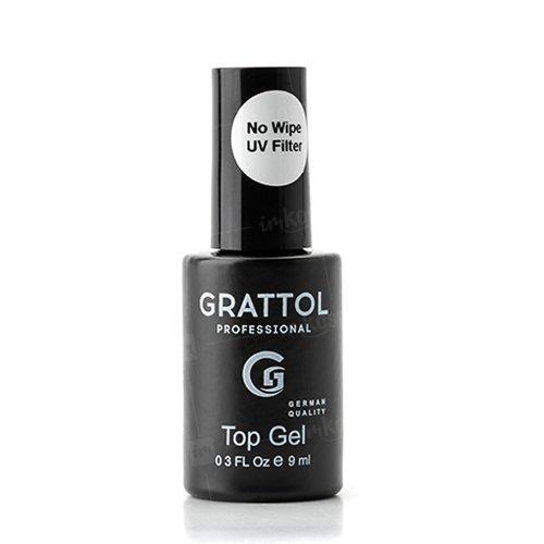 Grattol, No Wipe Top Gel - Топ без липкого слоя (9 мл.)Grattol<br>Верхнее покрытие ТОП для гель лака без липкого слоя<br>