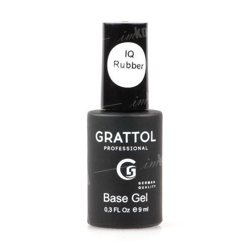 Grattol, База Каучуковая IQ Rubber Base Gel (9 мл.)Grattol<br>IQ Каучуковая база, Разработанная специально для аллергиков<br>