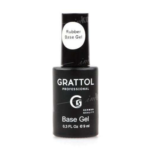 Grattol, База Каучуковая Rubber Base Gel (9 мл.)Grattol<br>Каучуковая база, идеально выравнивающая ногтевую пластину<br>