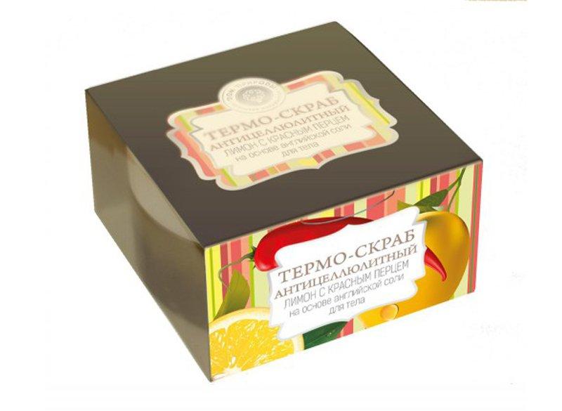 Дом Природы, Термо-скраб Лимон с красным перцемСоляной скраб<br>Термо-скраб на основе английской соли.<br>