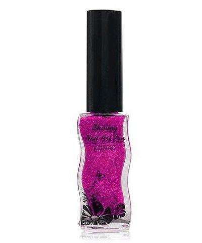 Konad, Лак для дизайна Shining art Pen - PurpleЛаки для дизайна с тонкой кистью Konad<br>Пурпурный с блестками, полупрозрачный.<br>