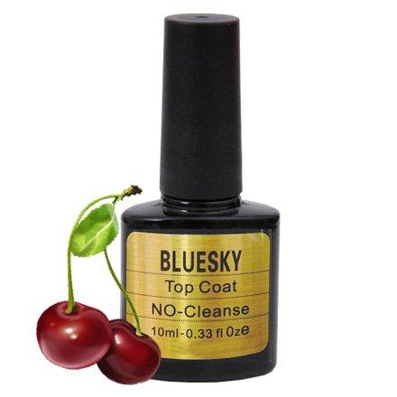 Bluesky, Шеллак No Cleanse Cherry Top Coat 10 mlBluesky 10 мл<br>Топовое покрытие (10мл) без липкого слоя c ароматом вишни.<br>