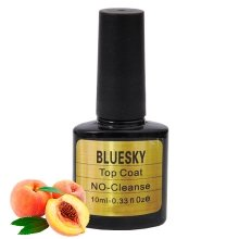 Bluesky, Шеллак No Cleanse Peach Top Coat 10 ml