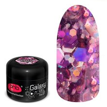 PNB, Galaxy Gel UV/LED -  Глиттер-гель Pink №01 (5 мл.)