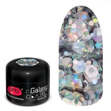 PNB, Galaxy Gel UV/LED -  Глиттер-гель Rainbow №02 (5 мл.)