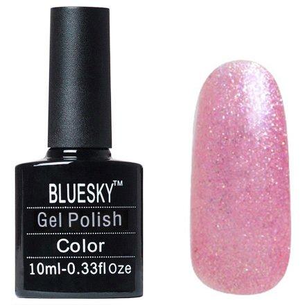 Bluesky, Gel Polish цвет №L13Bluesky 10 мл<br>Гель-лак розовый оттенок, с блестками, полупрозрачный.<br>