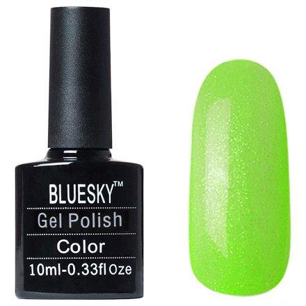 Bluesky Gel Polish, цвет #L17Bluesky 10 мл<br>Гель-лак зеленый оттенок, с блестками, полупрозрачный.<br>