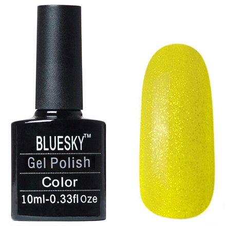 Bluesky Gel Polish, цвет #L22Bluesky 10 мл<br>Гель-лак желтый оттенок, с блестками, полупрозрачный.<br>