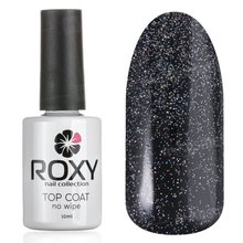 ROXY Nail Collection, No Wipe Top Coat Shine - Топ без липкого слоя с шиммером № Т02 (10 ml.)