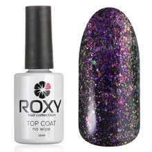 ROXY Nail Collection, No Wipe Top Coat Shine - Топ без липкого слоя с шиммером № Т03 (10 ml.)