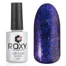 ROXY Nail Collection, No Wipe Top Coat Shine - Топ без липкого слоя с шиммером № Т06 (10 ml.)