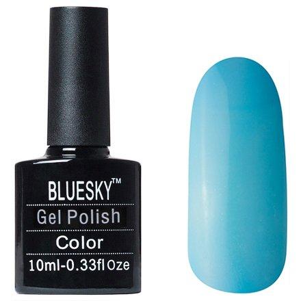 Bluesky Gel Polish, цвет #L48Bluesky 10 мл<br>Гель-лак дымчато-темно-голубой оттенок, плотный.<br>