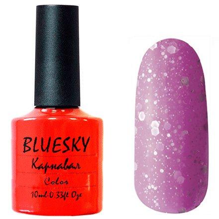 Bluesky, Карнавал 005Bluesky 10 мл<br>Гель-лак неоново-сиреневый оттенок, с крупными и мелкими блестками, полупрозрачный.<br>
