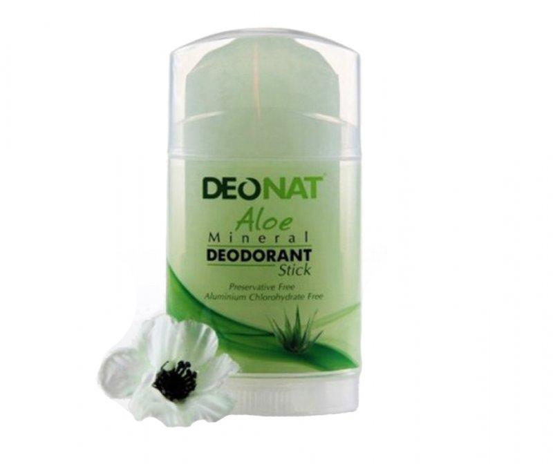 DeoNat, Кристалл-ДеоНат с соком Алое, стик плоский, 100 гр.Природный дезодорант Кристал-ДеоНат<br>Природный дезодорант Кристалл ДеоНат - 100% натуральный продукт.<br>