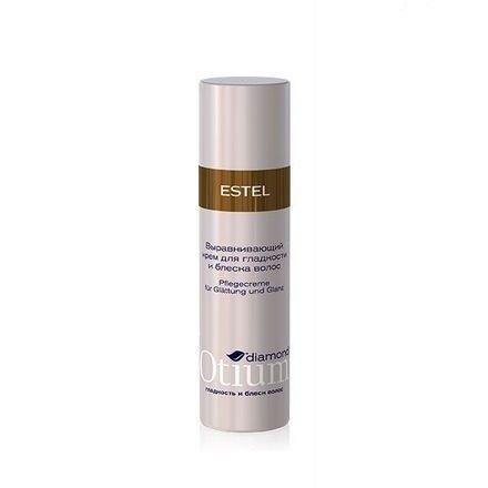 Estel, Выравнивающий крем OTIUM Diamond, для гладкости и блеска волос, 100 млВсе средства<br>Ультра легкий крем выравнивает полотно волос, делает волосы шелковистыми, наполняет бриллиантовым блеском<br>
