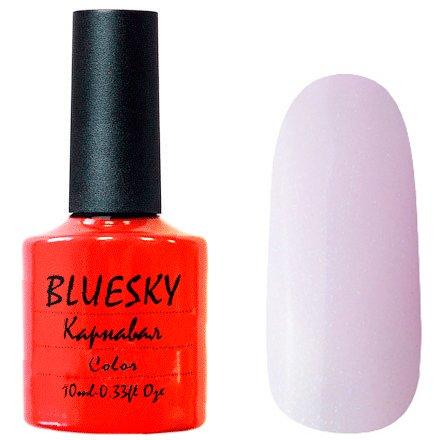 Bluesky, Карнавал 010Bluesky 10 мл<br>Гель-лак светло-сиреневый оттенок, с шиммером и мелкими блестками, полупрозрачный.<br>