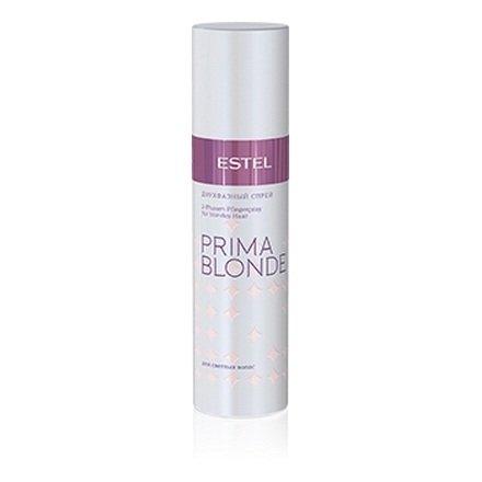 Estel, Двухфазный спрей PRIMA BLONDE, для светлых волос, 200 млВсе средства<br>Спрей активно питает и увлажняет сухие и ломкие светлые волосы.<br>